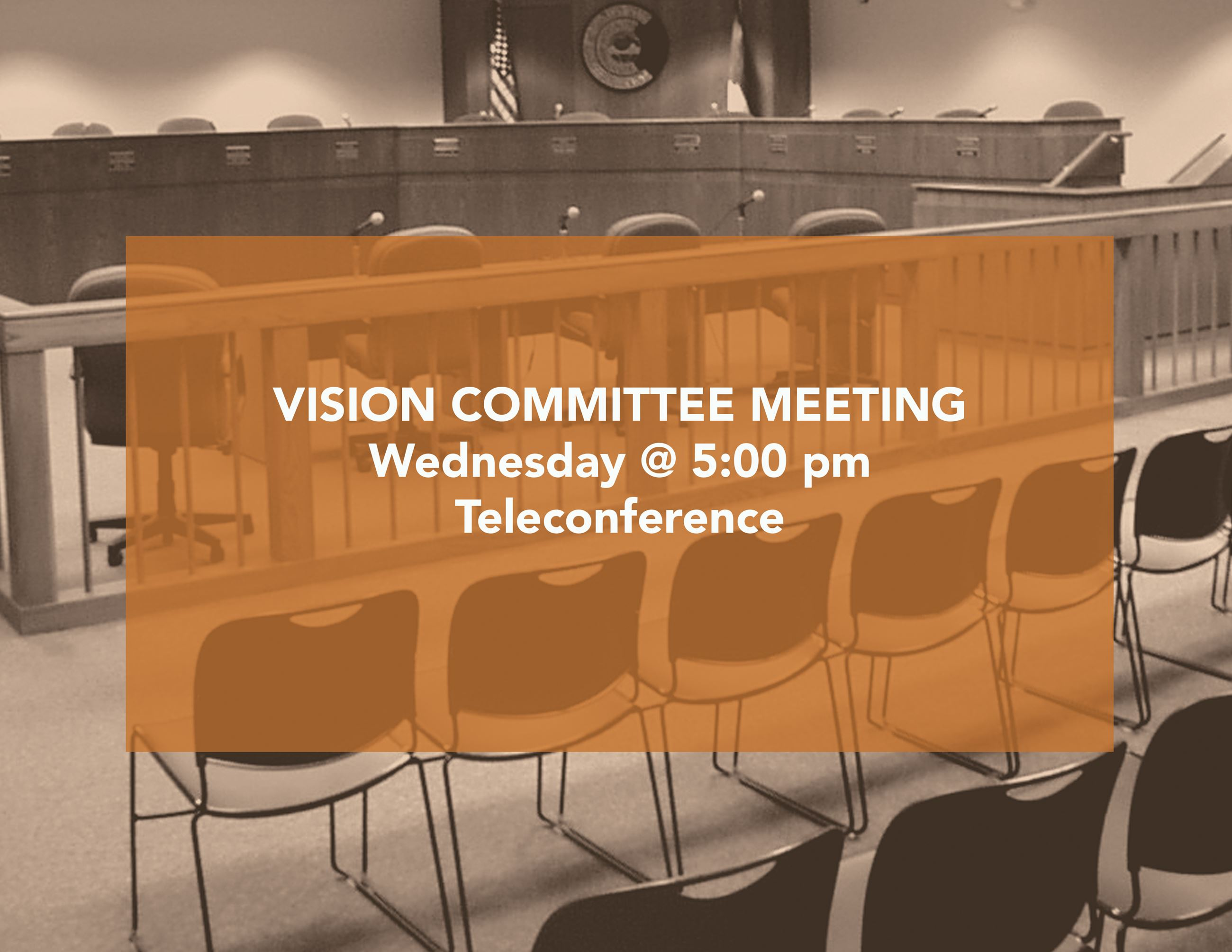 Vision Committee Meeting Flyer