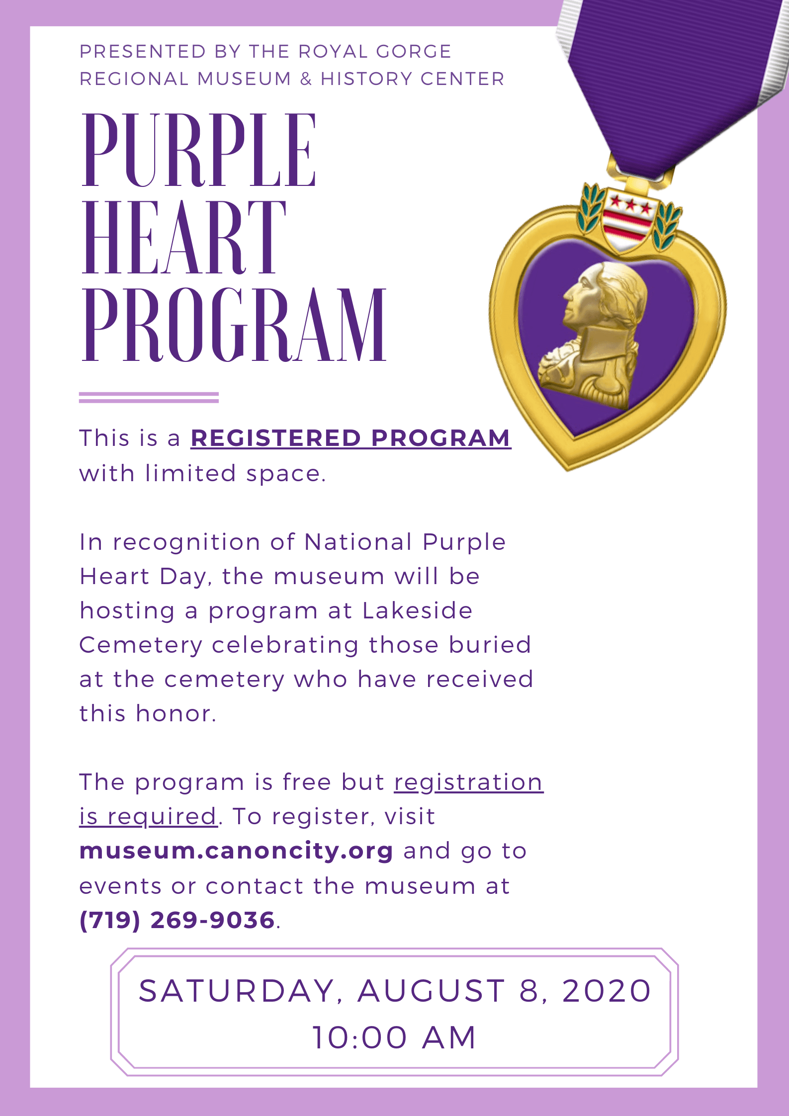 Purple Heart Program Flyer