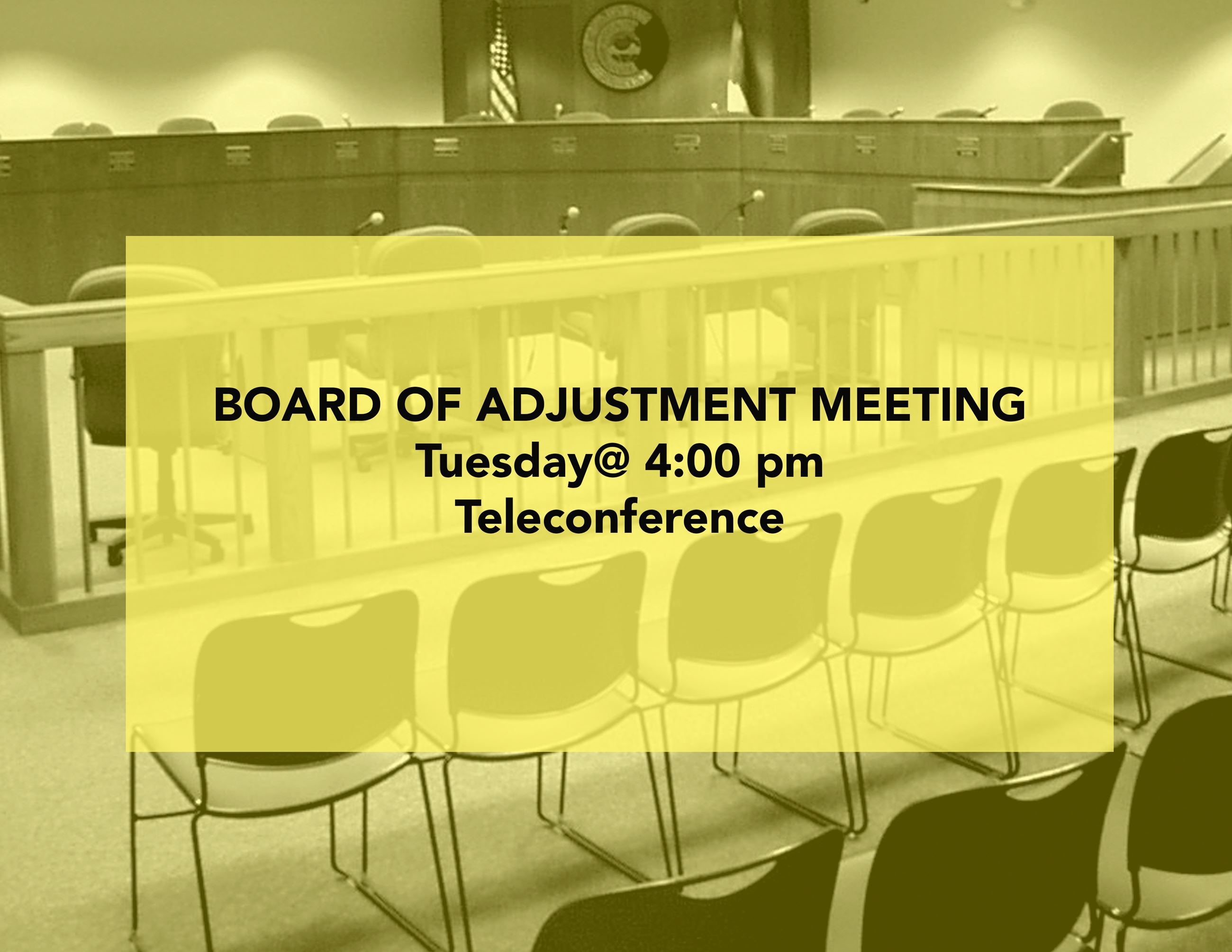 BOA Tuesday Teleconference at 4 pm