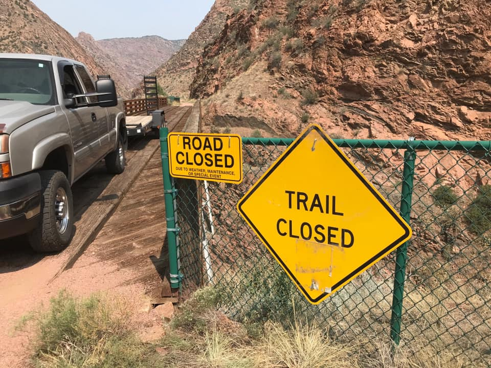 Tunnel Drive Trail Closed