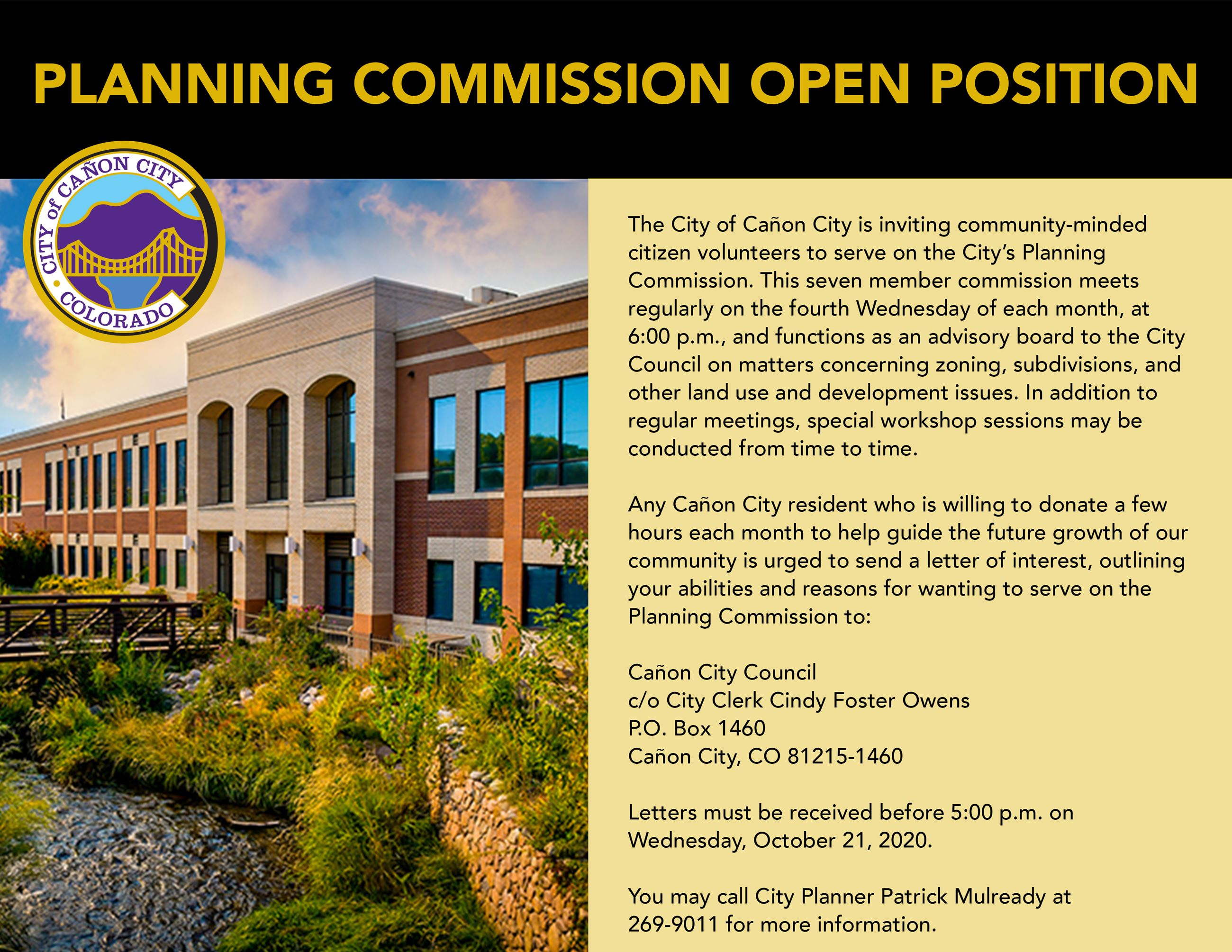 Planning Commission Opening Flyer