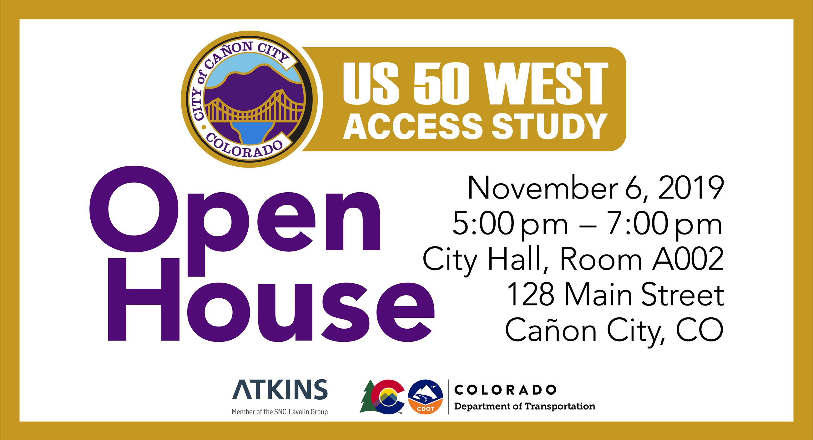 US50 West Access Open House flyer