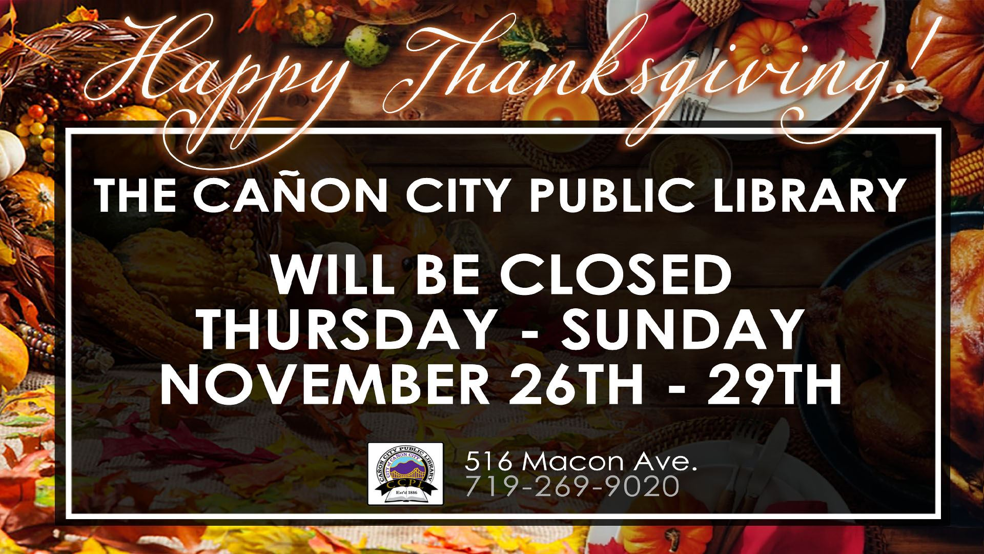 Thanksgiving Library Closure