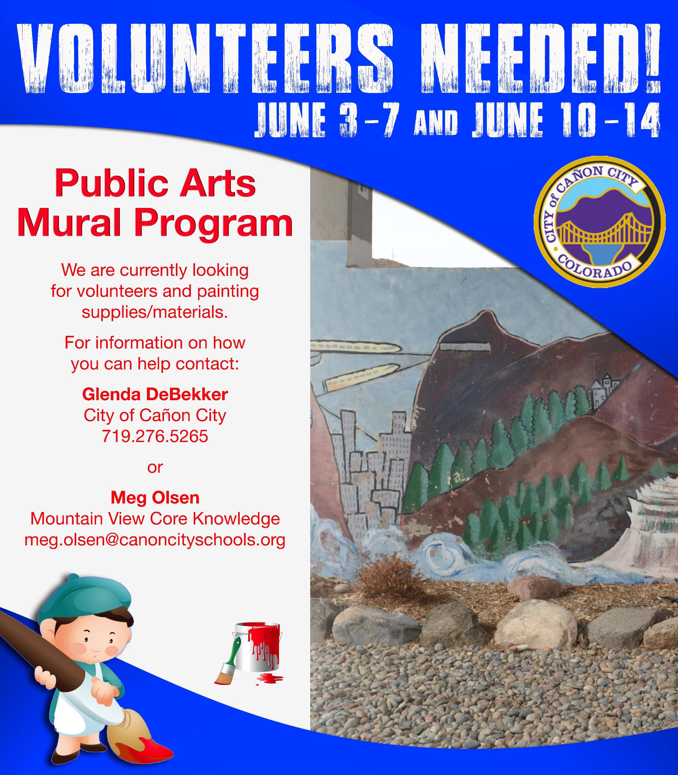 Volunteers Needed for the Public Arts Mural Program