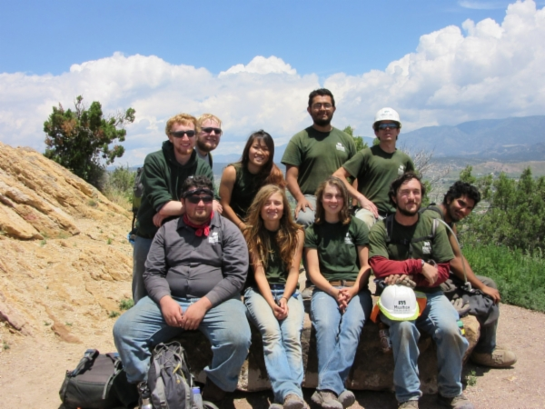 Mile High Youth Corps Trail Building Group